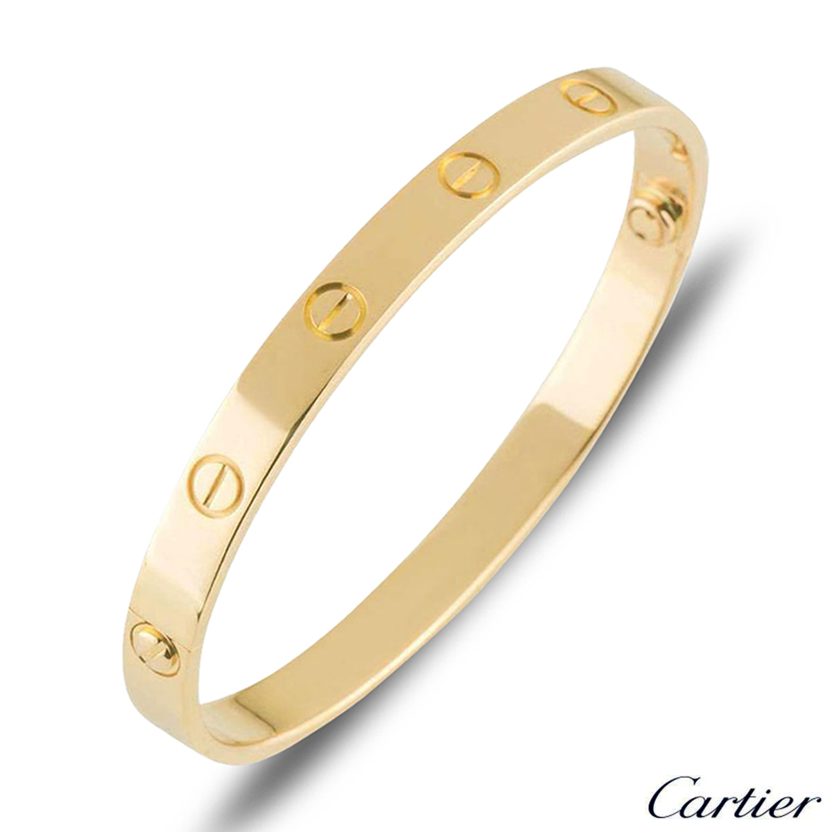 Cartier Yellow Gold Plain Love Bracelet Size 21 B6035521